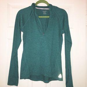 Reebok green running sweatshirt size small